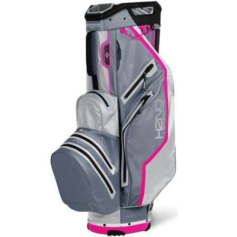 Sun Mountain 2021 H2NO Lite Waterproof Golf Cart Bag Nickel/Cadet/Pink
