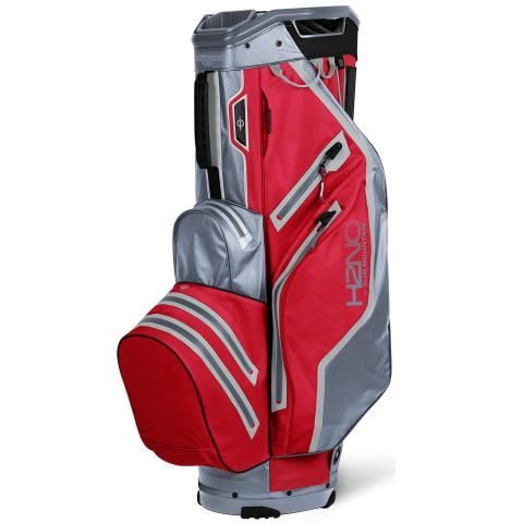 Sun Mountain 2021 H2NO Lite Waterproof Golf Cart Bag Red/Nickel