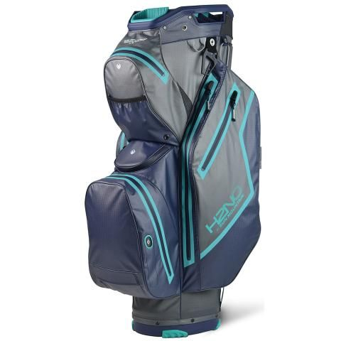 Sun Mountain 2021 H2NO Staff Cart Waterproof Golf Cart Bag Gunmetal/Navy/Teal