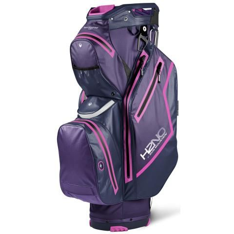 Sun Mountain 2021 H2NO Staff Cart Waterproof Golf Cart Bag Purple/Navy/Fuchsia