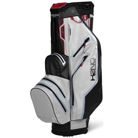 Sun Mountain 2021 H2NO Lite Waterproof Golf Cart Bag White/Black/Red