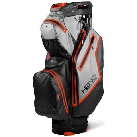Sun Mountain 2021 H2NO Staff Cart Waterproof Golf Cart Bag Black/Cadet/Inferno