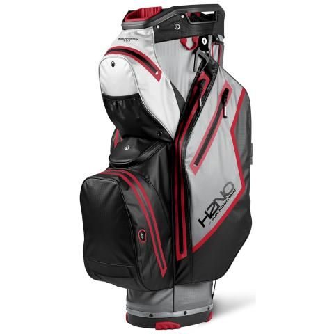 Sun Mountain 2021 H2NO Staff Cart Waterproof Golf Cart Bag Cadet/Black/White/Red