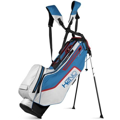 Sun Mountain 2021 H2NO Litespeed Waterproof Golf Stand Bag Black/White/Skydive/Red