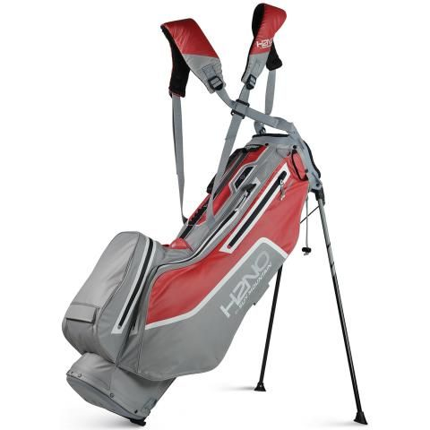 Sun Mountain 2021 H2NO Litespeed Waterproof Golf Stand Bag Cadet/Red/White