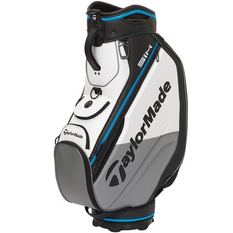 TaylorMade 2020 Golf Tour Staff Bag Black/White/Grey/Blue
