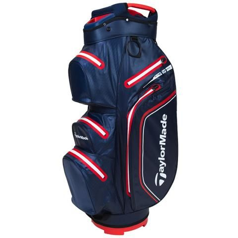 TaylorMade 2021 Storm Dry Waterproof Golf Cart Bag Navy/Red