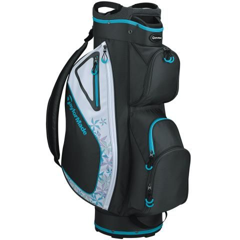 TaylorMade 2020 Kalea Ladies Golf Cart Bag Grey Cool/White/Blue Sky