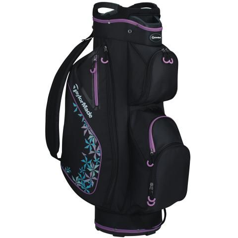TaylorMade 2020 Kalea Ladies Golf Cart Bag Black/Grey Cool/Violet