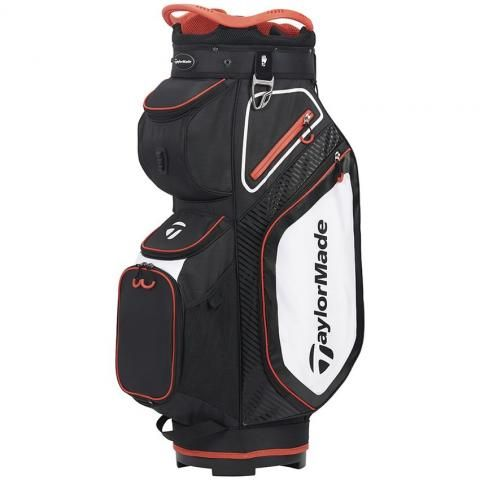 TaylorMade 2020 Pro 8.0 Golf Cart Bag Black/White/Red
