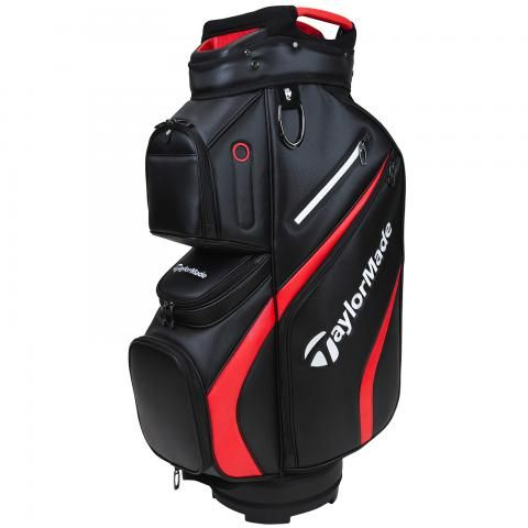 TaylorMade 2021 Deluxe Golf Cart Bag Black/Red