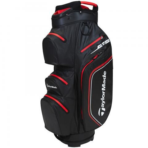 TaylorMade 2021 Storm Dry Waterproof Golf Cart Bag Black/Red