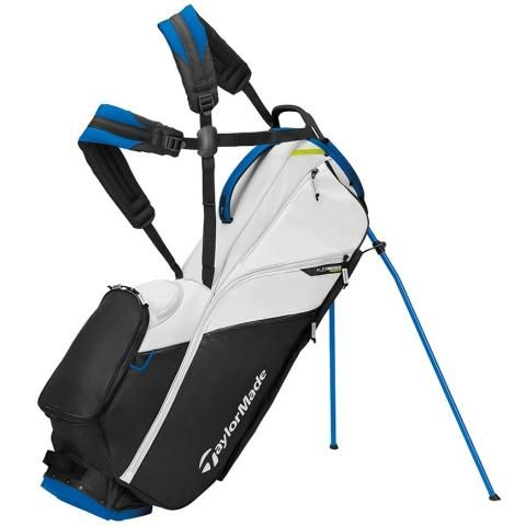 TaylorMade 2021 Flextech Lite Golf Stand Bag White/Black/Blue