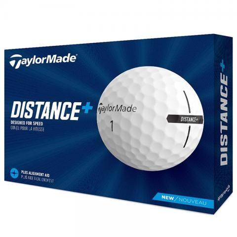 TaylorMade 2021 Distance+ Golf Balls White / Dozen