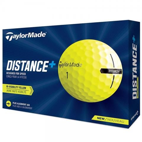 TaylorMade 2021 Distance+ Golf Balls Yellow / Dozen