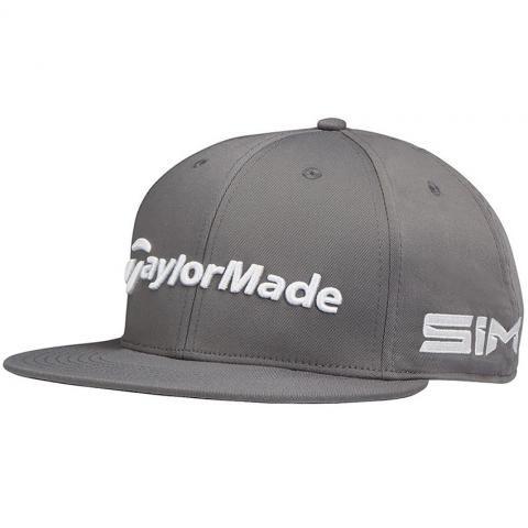 TaylorMade 2020 Tour Flatbill Snapback Adjustable Baseball Cap Charcoal