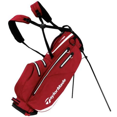 TaylorMade Flextech Waterproof Golf Stand Bag Red/White