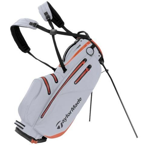 TaylorMade Flextech Waterproof Golf Stand Bag Silver/Blood Orange