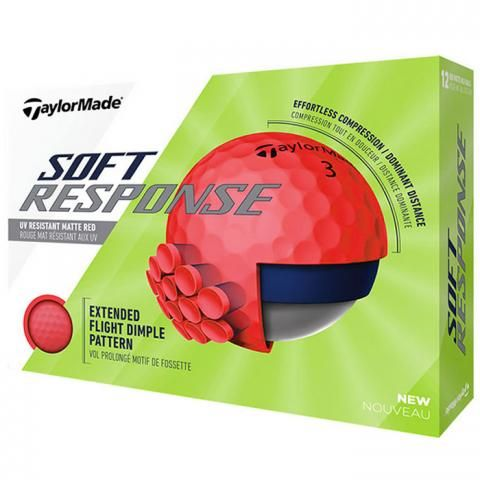TaylorMade Soft Response Golf Balls Red / Dozen
