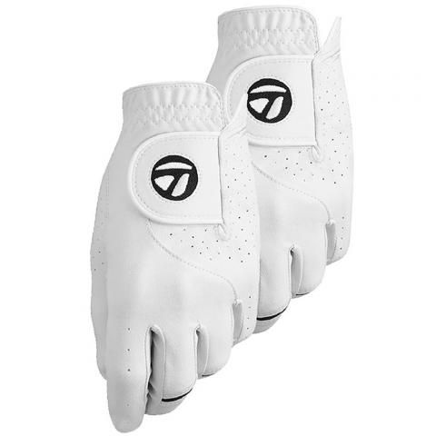 TaylorMade Stratus Tech Golf Glove 2 Pack Right Handed Golfer / White