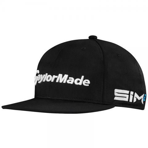 TaylorMade 2021 Tour Flat Bill Baseball Cap Black