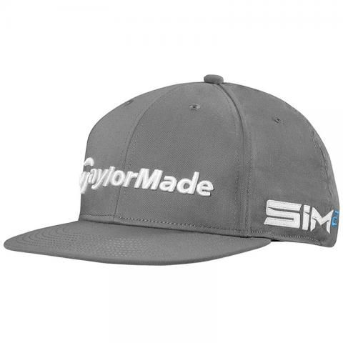TaylorMade 2021 Tour Flat Bill Baseball Cap Charcoal