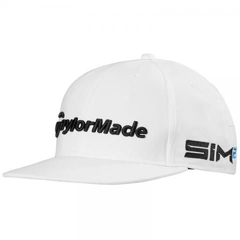 TaylorMade 2021 Tour Flat Bill Baseball Cap White
