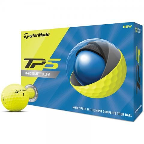 TaylorMade 2020 TP5 Golf Balls Yellow / Dozen