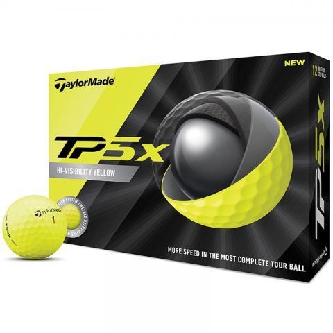 TaylorMade 2020 TP5x Golf Balls Yellow / Dozen