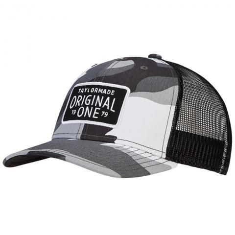 TaylorMade 2021 Original One Trucker Hat Grey Camo/Black