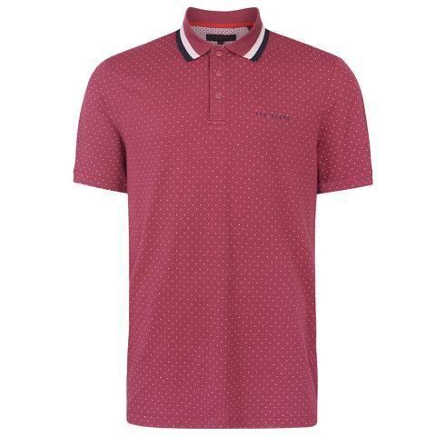 Ted Baker Kabby Polo Shirt Deep Pink