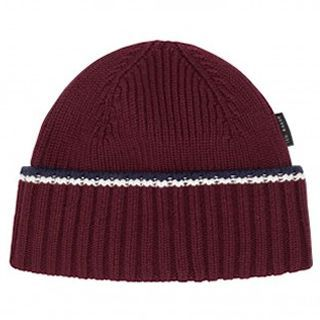 Ted Baker Strroll Knitted Winter Beanie Hat Dark Red