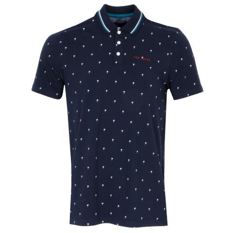 Ted Baker Grass Polo Shirt Navy