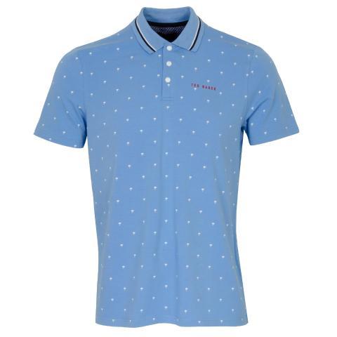 Ted Baker Grass Polo Shirt Blue