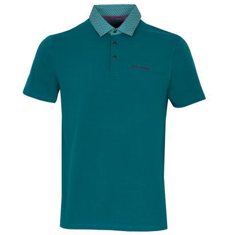 Ted Baker Grip Polo Shirt Teal Blue