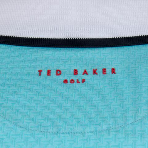 e56308da8 Ted Baker Statement Print Polo Shirt Bright Blue   Scottsdale Golf