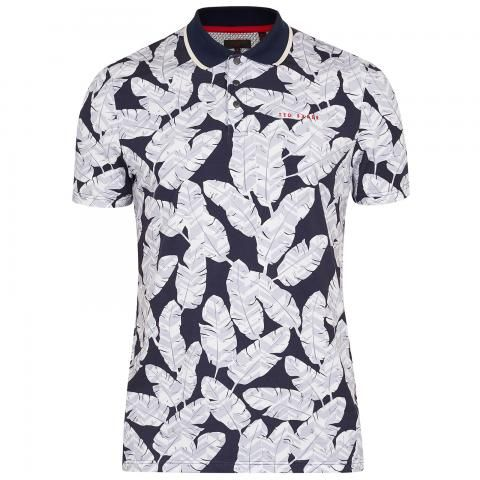 b17f739c2090 Ted Baker Peacan Feather Print Polo Shirt