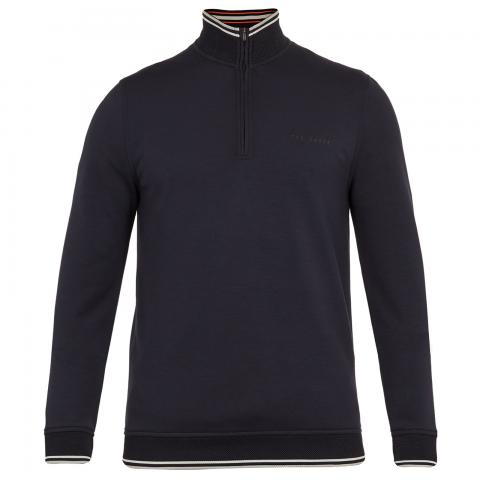Ted Baker Peanot Half Zip Sweater Navy