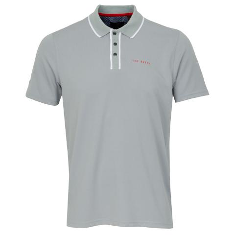 Ted Baker Bunka Technical Polo Shirt Light Grey SS20