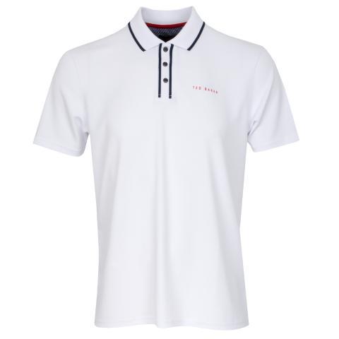 Ted Baker Bunka Technical Polo Shirt White SS20