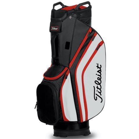 Titleist 2020 Cart 14 Lightweight Golf Cart Bag Black/White/Red