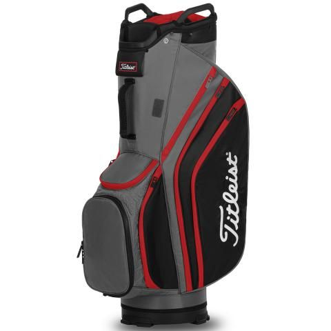 Titleist Cart 14 Lightweight Golf Cart Bag Charcoal/Black/Red
