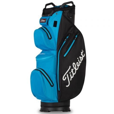 Titleist 2021 Cart 14 StaDry Waterproof Golf Cart Bag Black/Dorado