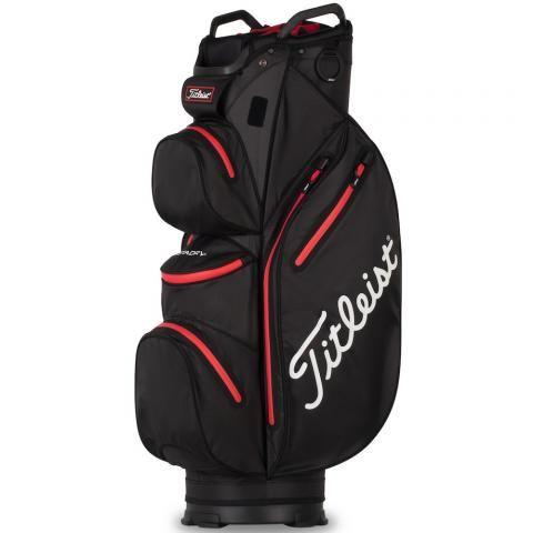 Titleist 2021 Cart 14 StaDry Waterproof Golf Cart Bag Black/Red