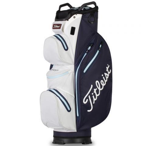 Titleist 2021 Cart 14 StaDry Waterproof Golf Cart Bag Navy/White/Sky