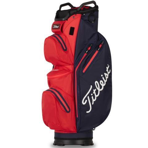 Titleist 2021 Cart 14 StaDry Waterproof Golf Cart Bag Navy/Red