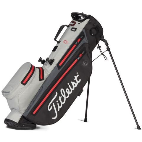 Titleist Players 4 StaDry Waterproof Golf Stand Bag Black/Grey/Red