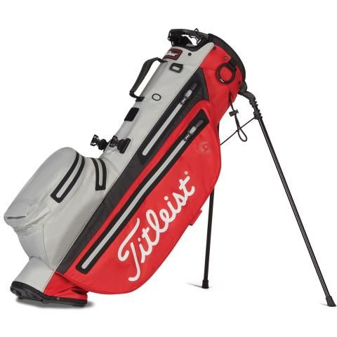 Titleist Players 4 StaDry Waterproof Golf Stand Bag Red/Grey/Black