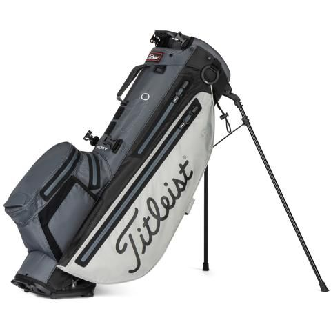 Titleist Players 4 Plus StaDry Waterproof Golf Stand Bag Grey/Charcoal/Black