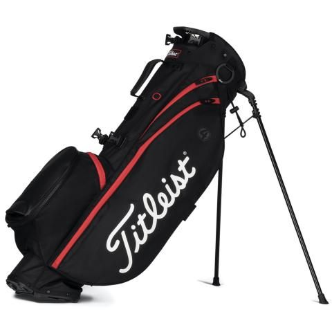 Titleist Players 4 Golf Stand Bag Black/Black/Red